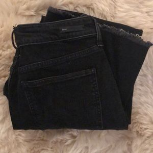 NWOT Pilcro black wash raw edge jeans, 31P